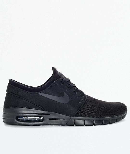 Nike SB Stefan Janoski Max zapatos de malla negro y antracita (hombre)