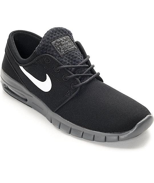 promo code 7b3f9 00721 Nike SB Stefan Janoski Max zapatos en negro, blanco y gris ...