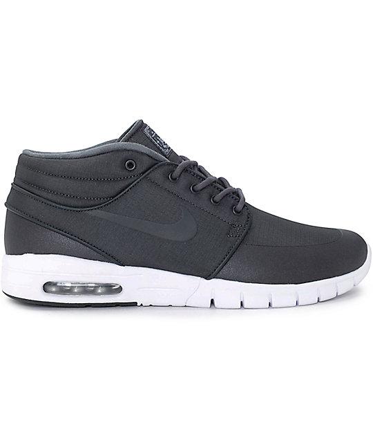 Livraison gratuite populaires des prix Nike Sb Stefan Janoski Mi Anthracite Chaussures De Skate Noir Et Blanc la sortie populaire nicekicks de sortie grxPSUFt9B