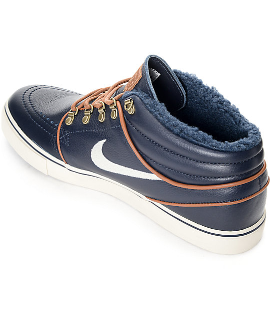 987df205fa90 ... Nike SB Stefan Janoski Mid Premium Dark Obsidian Skate Shoes ...
