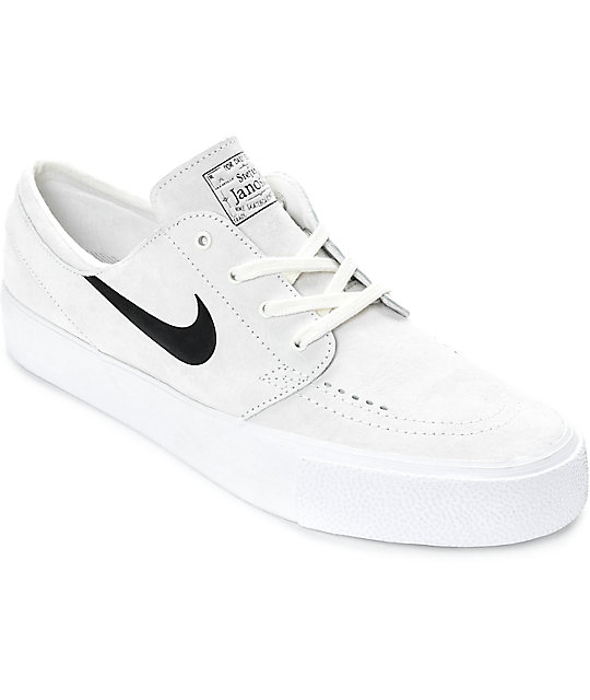 reputable site c559d 2830b Nike SB Stefan Janoski Premium High Tape Summit White   Black Skate Shoes    Zumiez