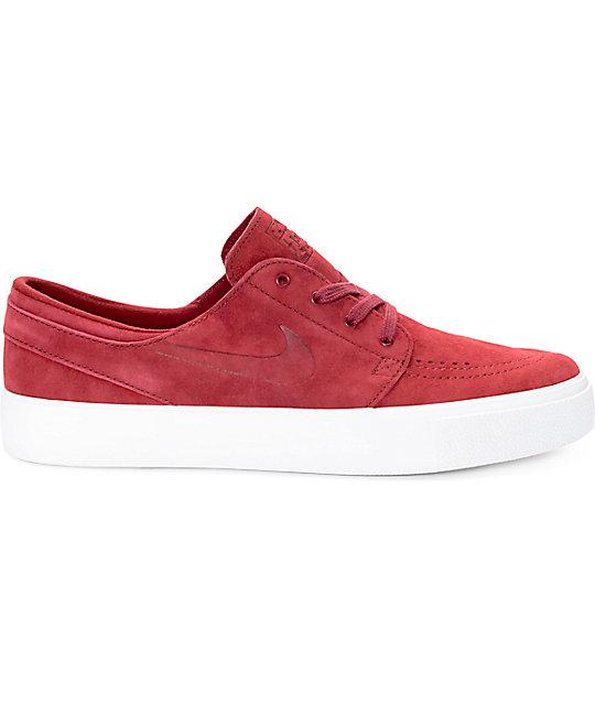 76c28488c3aad ... Nike SB Stefan Janoski Premium High Tape Team Red   White Skate Shoes