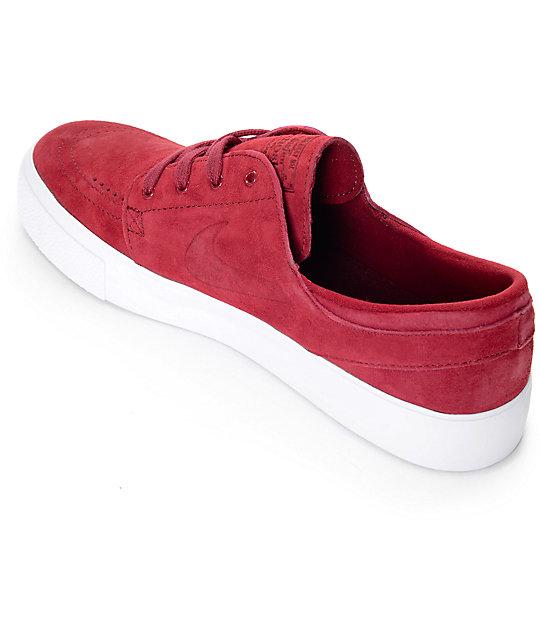 6bd034abeb99a ... Nike SB Stefan Janoski Premium High Tape Team Red   White Skate Shoes  ...