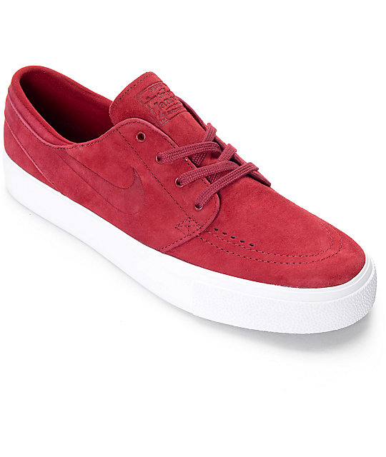 Nike SB Stefan Janoski Premium High Tape Team Red & White Skate Shoes