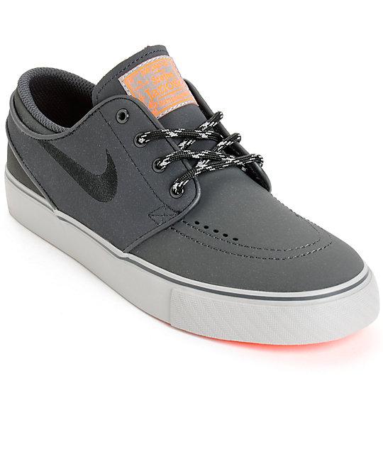 Balance Board Zumiez: Nike SB Stefan Janoski Reflective Kids Skate Shoes