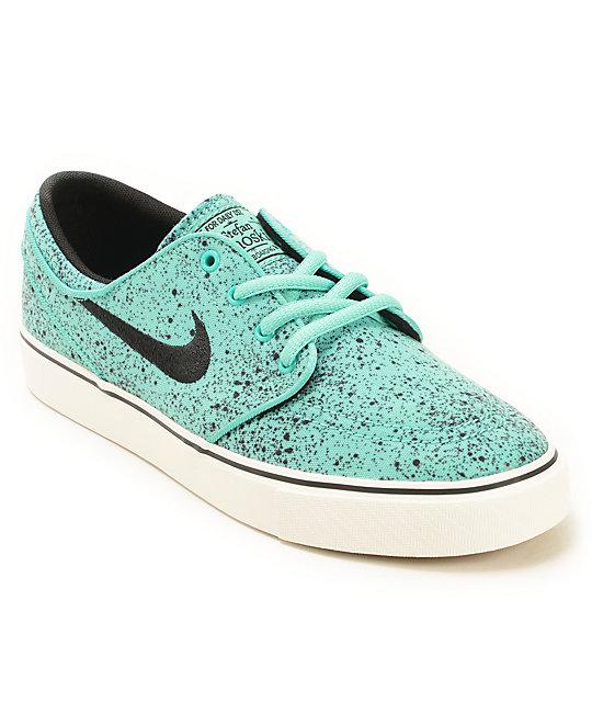 buy online 68feb 979c9 Nike SB Stefan Janoski Speckle Mint Kids Skate Shoes  Zumiez