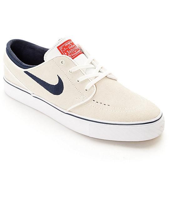 Nike Sommet De Janoski Stefan Chaussures De Skate Blanc Et Obsidienne