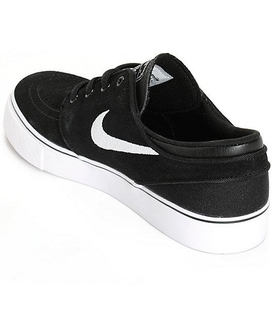 Nike SB Stefan Janoski zapatos de skate negros pare niños
