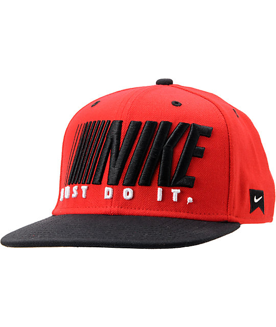 new product 59699 46ffa ... cheap nike sb step and repeat black red snapback hat 38057 8b255
