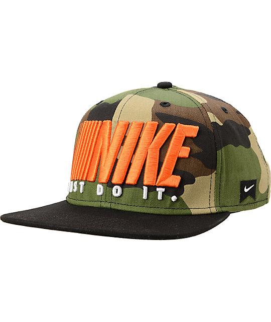 Nike SB Step And Repeat Camo Snapback Hat  5d75e321946