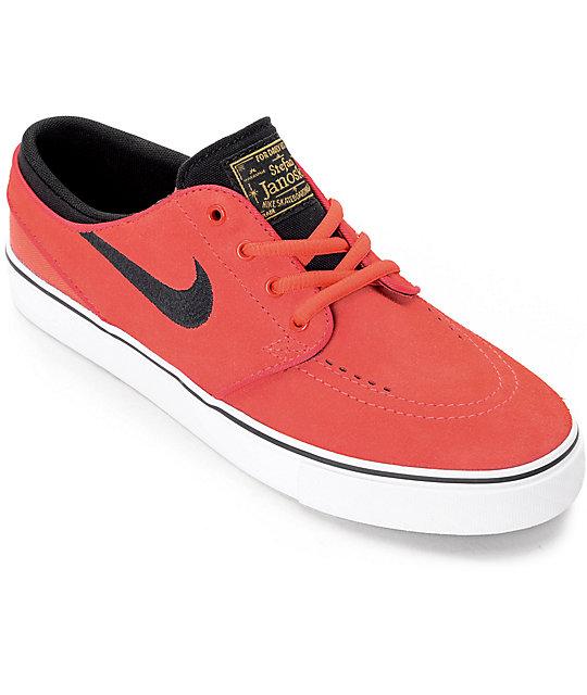 Nike SB Stephan Janoski Ember Glow & White Boys Skate Shoes ...