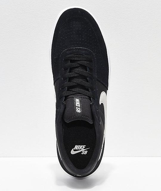 buy online 14c4b ee1af ... Nike SB Team Classic Black   Bone Skate Shoes ...