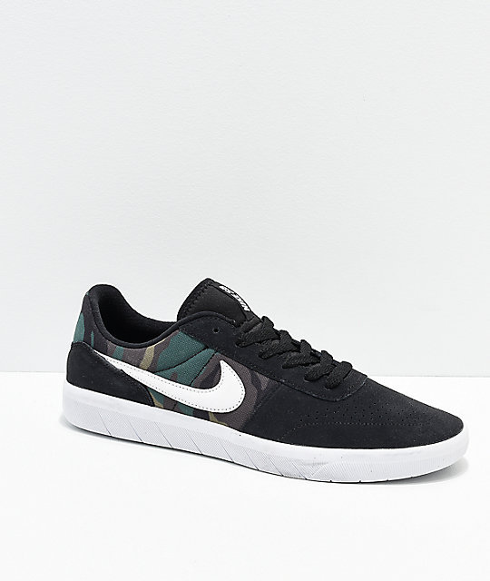 outlet store sale new arrivals good looking Nike SB Team Classic Camo, Black & White Skate Shoes