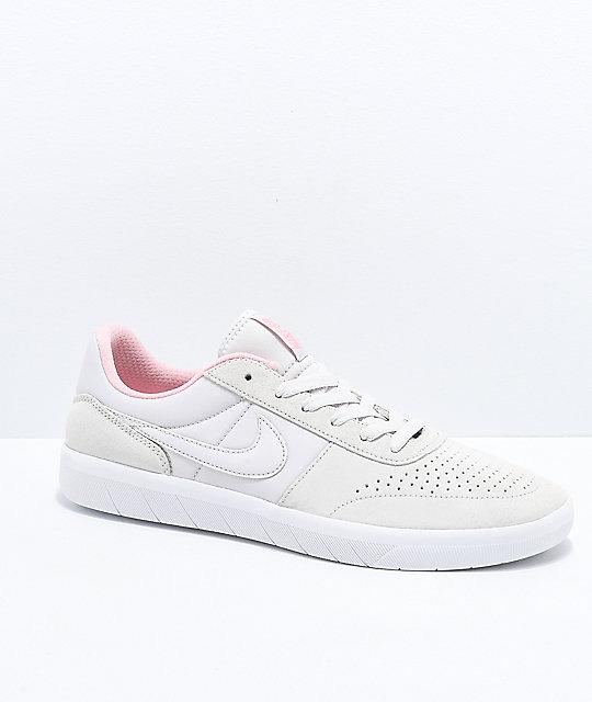 677ba62b2f91 Nike SB Team Classic Grey   Bubblegum Pink Skate Shoes