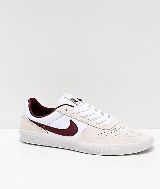 Nike Sb Team Classic Ivory Red Skate Shoes
