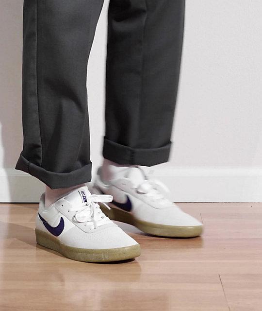 Nike SB Team Classic White & Gum Skate Shoes | Zumiez