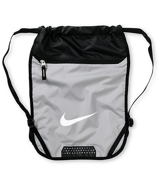 Nike Sb Team Training Grey Drawstring Bag