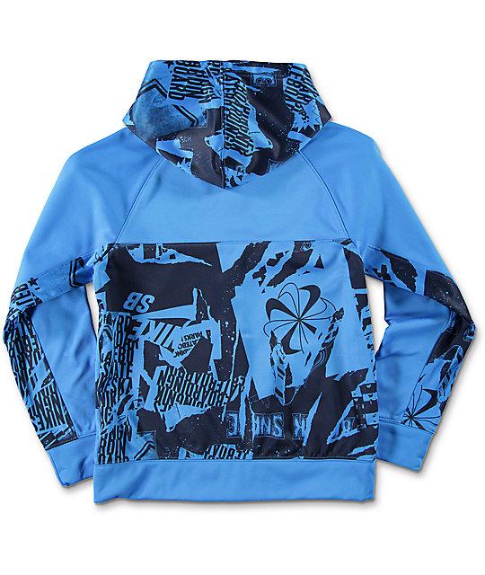 Azul Sb Zumiez Niños Para Chaqueta Thermafit Nike AqgUwtBt