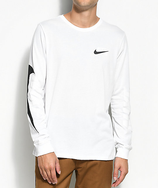 d4ff0330 Nike SB Tonal Futura White & Black Long Sleeve T-Shirt | Zumiez.ca