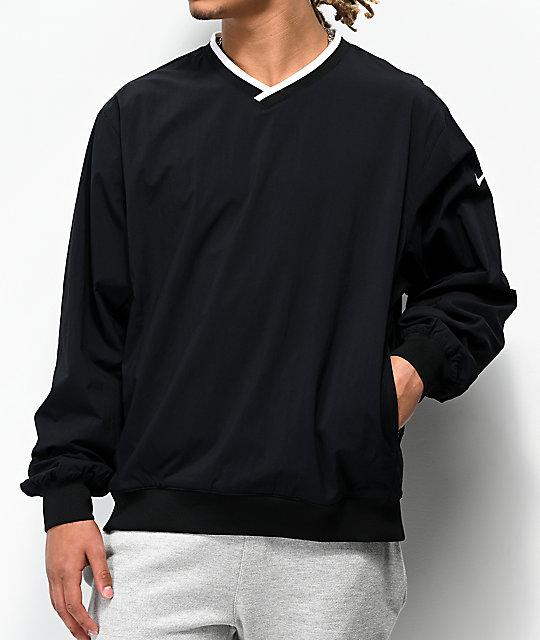 nueva llegada e25cd 7a0ba Nike SB Top chaqueta cortavientos en negro
