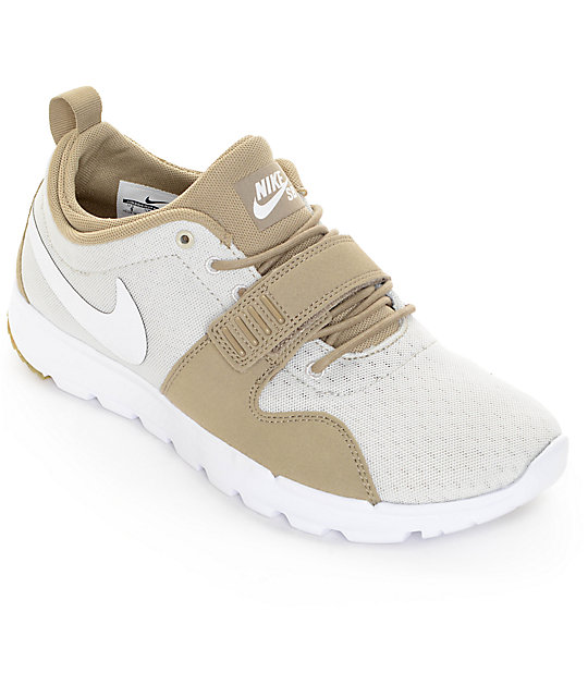 Nike SB Trainerendor Khaki & White Shoes ...