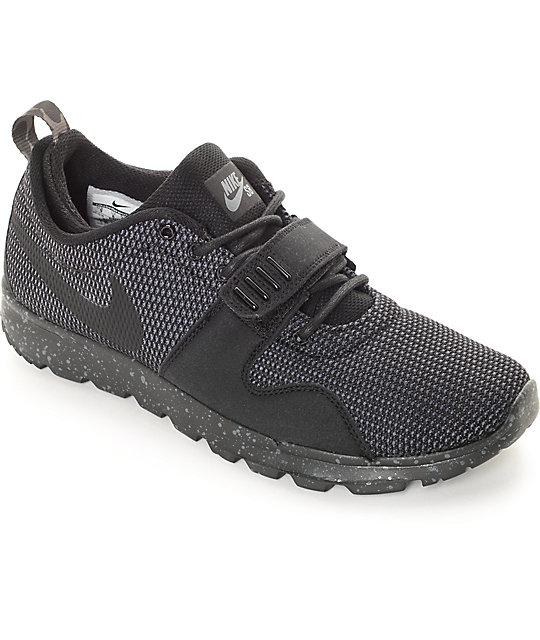 timeless design ae948 c5c37 Nike SB Trainerendor SE Black  Dark Grey Shoes  Zumiez