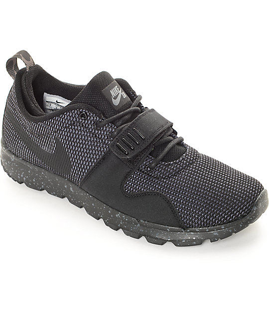 Vamos El actual calendario  Nike SB Trainerendor SE Black & Dark Grey Shoes | Zumiez