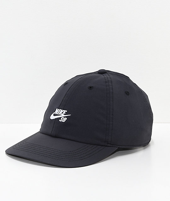 Nike SB True Cap Black & White Strapback Hat