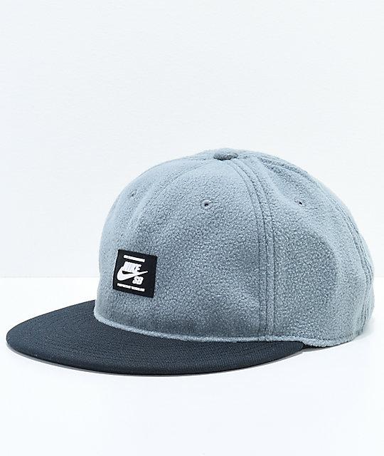 Nike SB Warmth True Grey   Black Strapback Hat  a15ca2952ff