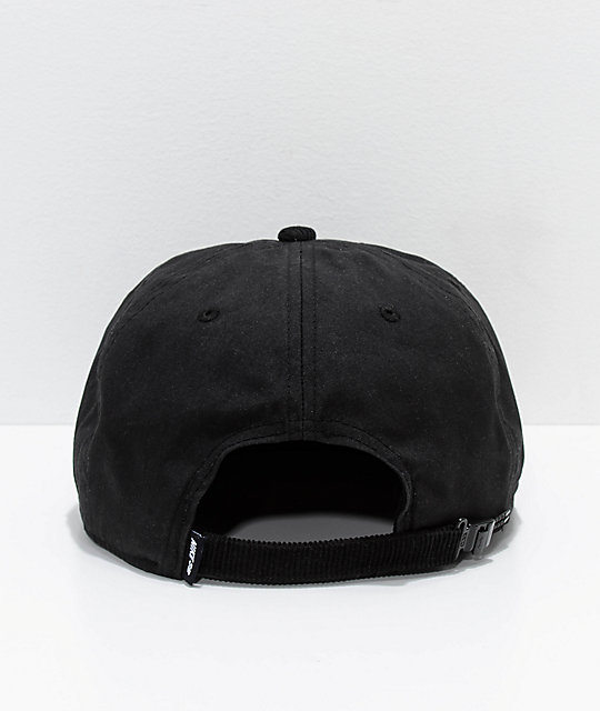 c052b64905c140 Nike SB Waxed Canvas Black Strapback Hat | Zumiez