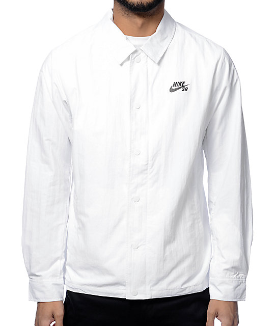nice shoes crazy price pretty cheap Nike SB White Coach Jacket
