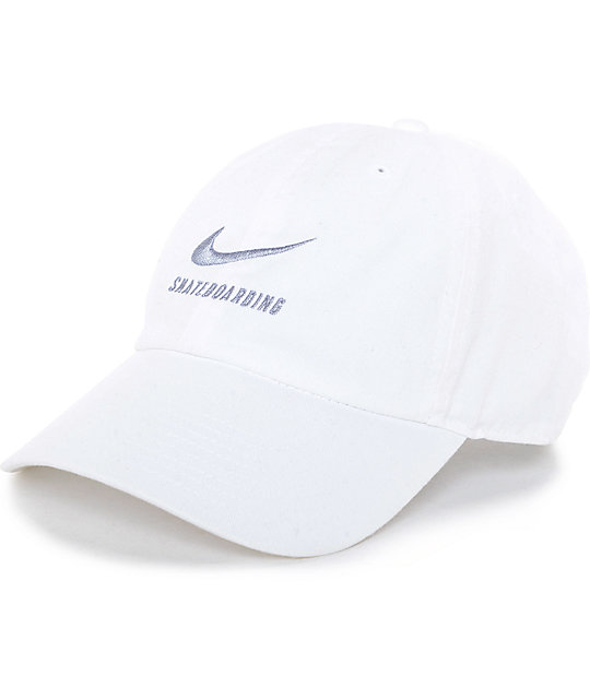Nike SB White Dad Hat