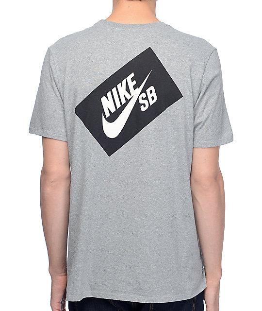 Nike SB Woven Box camiseta gris ...