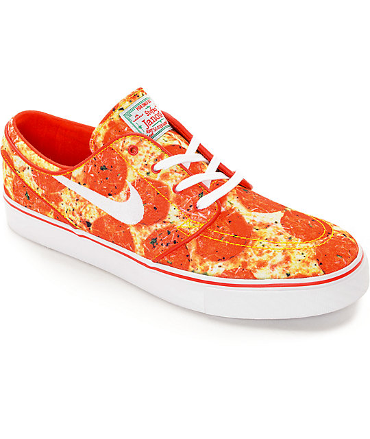 Nike SB X Skate Mental Stefan Janoski Pizza QS Skate Shoes ...