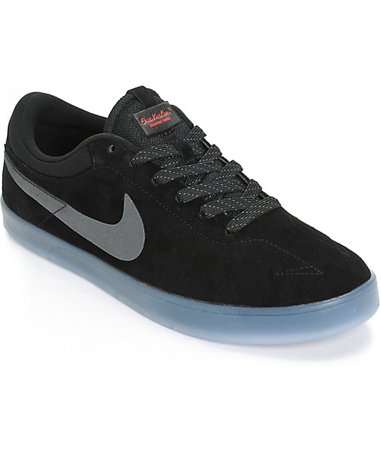 Nike SB Zoom Eric Koston Flash Black & Clear Skate Shoes ...