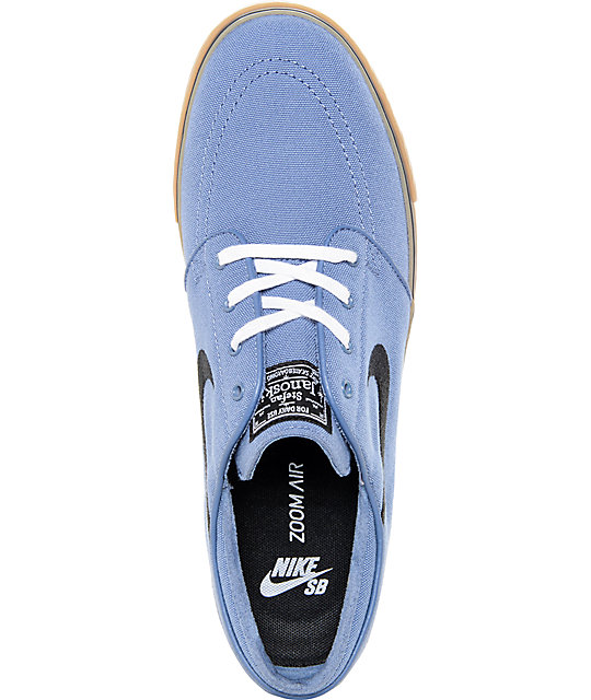 ... Nike SB Zoom Janoski Ocean Fog and Gum Canvas Skate Shoes ...
