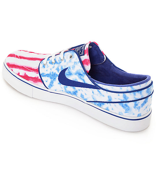 34fedb30601a7f ... Nike SB Zoom Janoski Premium Canvas US Flag Skate Shoes ...