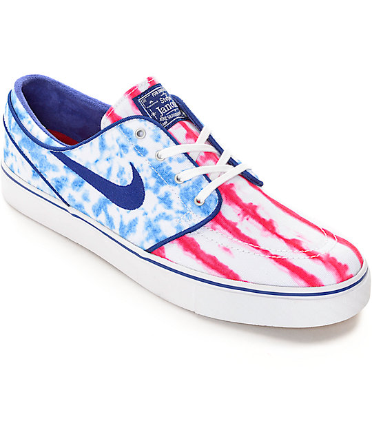 97ad65bf1a2fb7 Nike SB Zoom Janoski Premium Canvas US Flag Skate Shoes