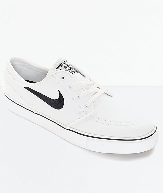 037e11f48896 Nike SB Zoom Janoski Summit White Canvas Skate Shoes
