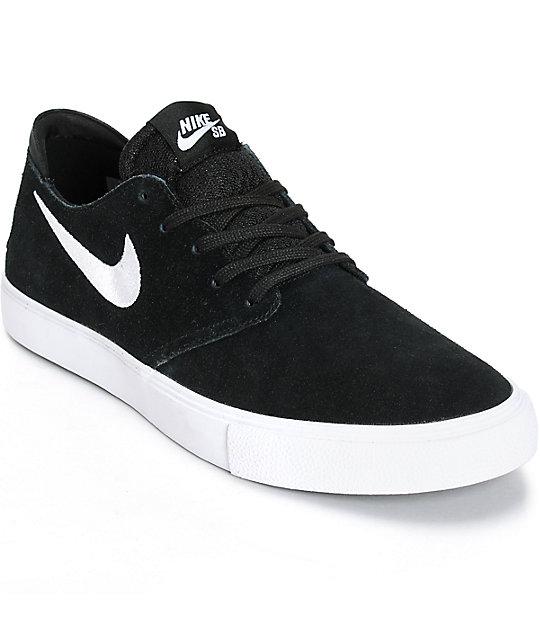 2fdaddcb9f8c Nike SB Zoom Oneshot Black   White Suede Skate Shoes