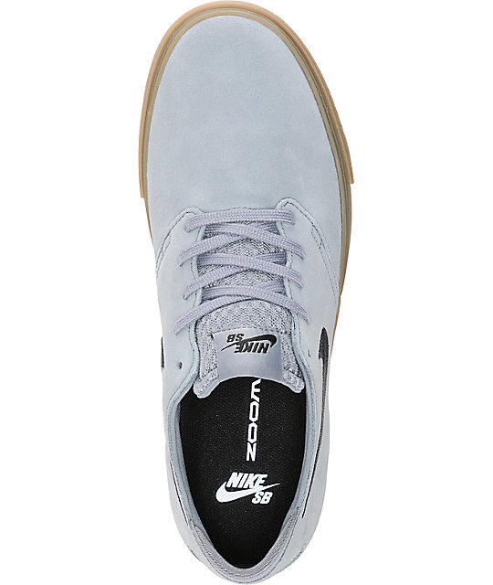 Nike SB Zoom Oneshot Grey & Gum Suede Skate Shoes