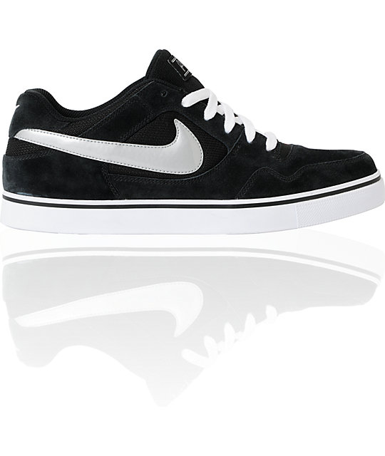Nike SB Zoom P-Rod 2.5 Black & Metallic Silver Suede Skate Shoes