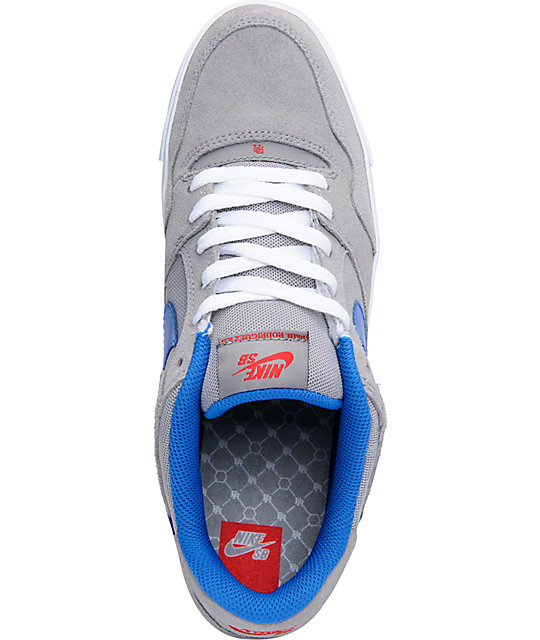 Nike SB Zoom P-Rod 2.5 Grey & Blue Suede Skate Shoes