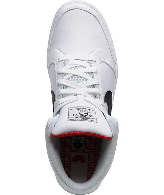 reputable site a87a0 74c28 ... Nike SB Zoom P-Rod 4 High White  Black Shoes ...