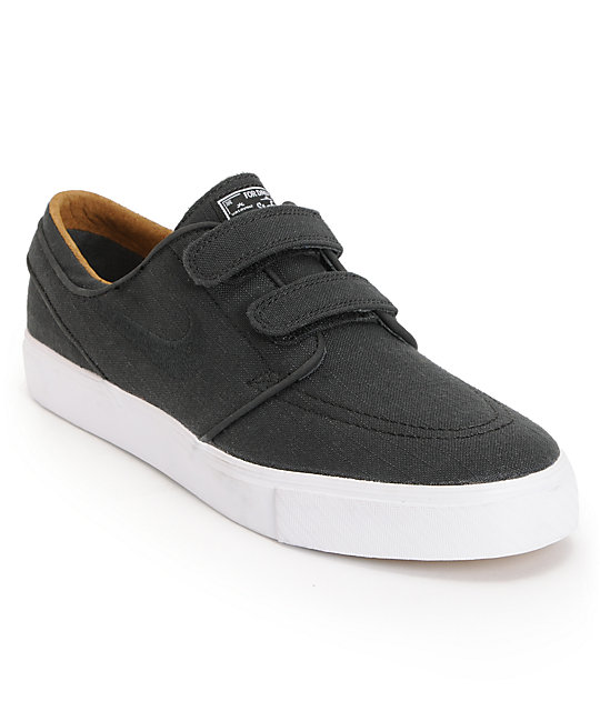 Nike SB Zoom Stefan Janoski AC Express Black, White, & Black Skate Shoes