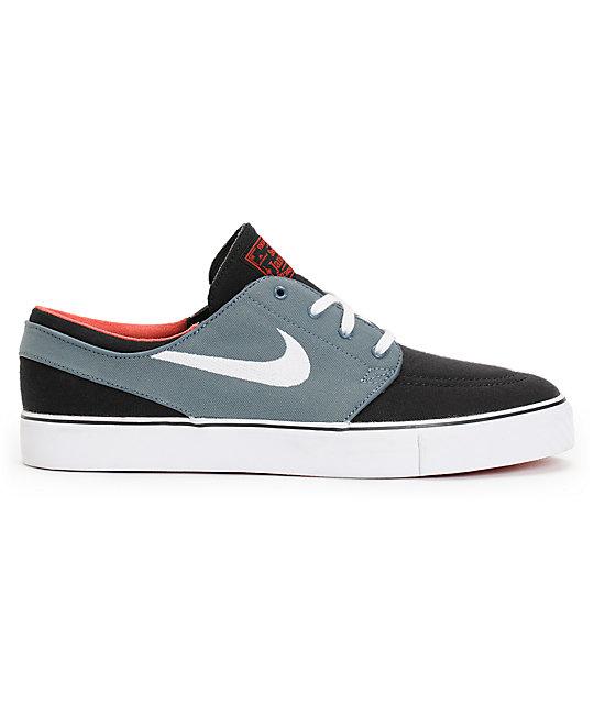 on sale 7993a 68d8b ... Nike SB Zoom Stefan Janoski Black, Navy,   University Red Skate Shoes