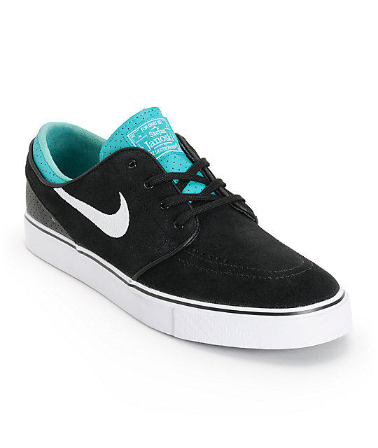 Nike SB Zoom Stefan Janoski Black, White, & Turbo Green Skate Shoes