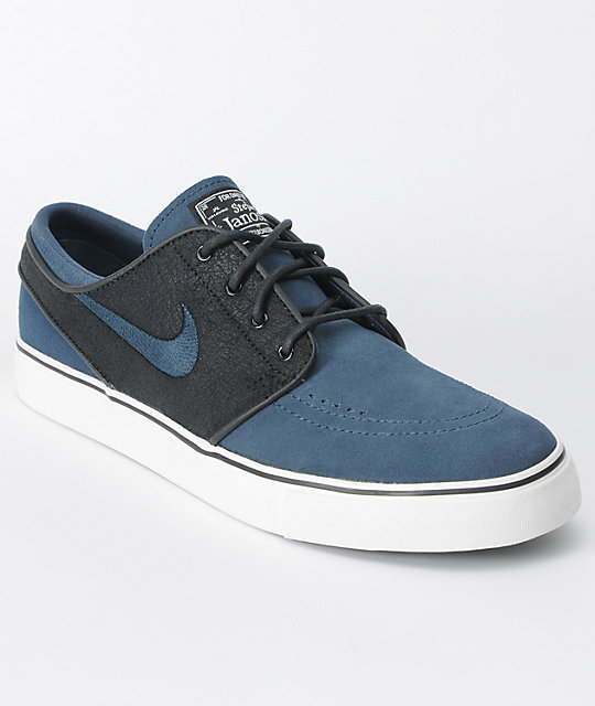 Nike SB Zoom Stefan Janoski Black & Deep Ocean Shoes