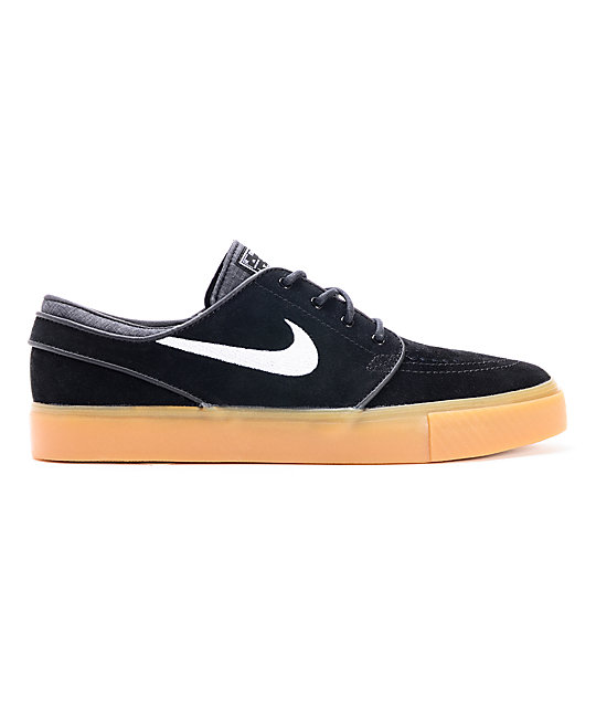 Nike SB Zoom Stefan Janoski Black & Gum Suede Shoes