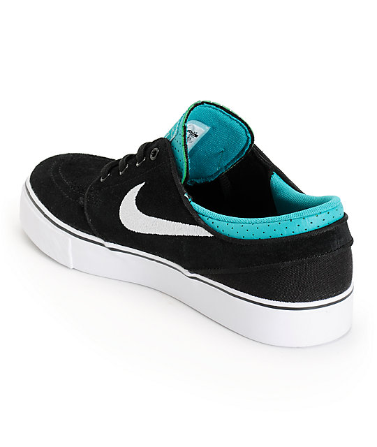 Nike SB Zoom Stefan Janoski Black & Turbo Green Kids Shoes